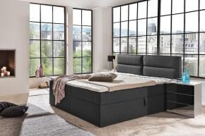Čalouněná postel Mercura 160x200 cm, šedá, s úložným prostorem
