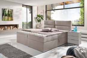 Čalouněná postel Mercura 180x200 cm, béžová, s úložným prostorem