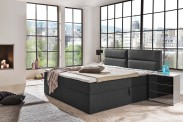 Čalouněná postel Mercura 180x200 cm, šedá, s úložným prostorem