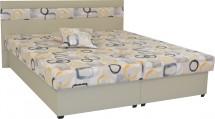 Čalouněná postel Mexico 160x200, béžová, včetně úp