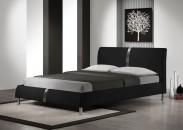 Čalouněná postel Nigel - 160x200, rám postele, rošt (černá)
