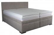 Čalouněná postel Rory 180x200 cm, šedá, s úložným prostorem