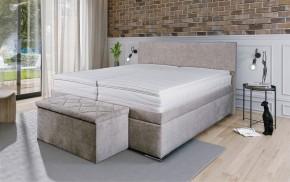 Čalouněná postel Rory 180x200, šedá, vč. matrace, roštu a úp