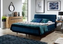 Čalouněná postel Scarlett 180x200, tmavě modrá, vč. matrace