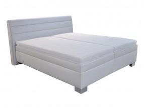 Čalouněná postel Vernon 180x200 cm, bílá, s úložným prostorem