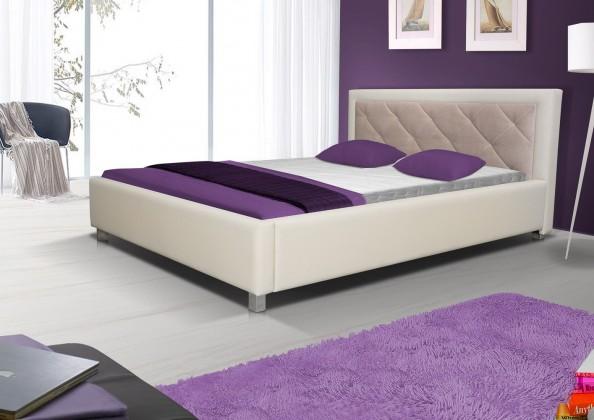 Čalouněná Postel VI - 140x200, úložný prostor (madryt 112/casablanka 2303)
