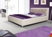 Čalouněná postel VI 160x200 cm, bílá, s úložným prostorem