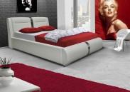 Čalouněná postel VII 180x200 cm, eko kůže, s úložným prostorem