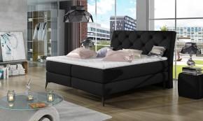 Čalouněná postel Violet 180x200, černá, vč. matrace a ÚP