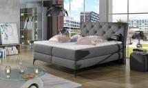 Čalouněná postel Violet 180x200, šedá, vč. matrace a ÚP