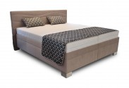 Čalouněná postel Windsor 180x200 cm, béžová, s úložným prostorem