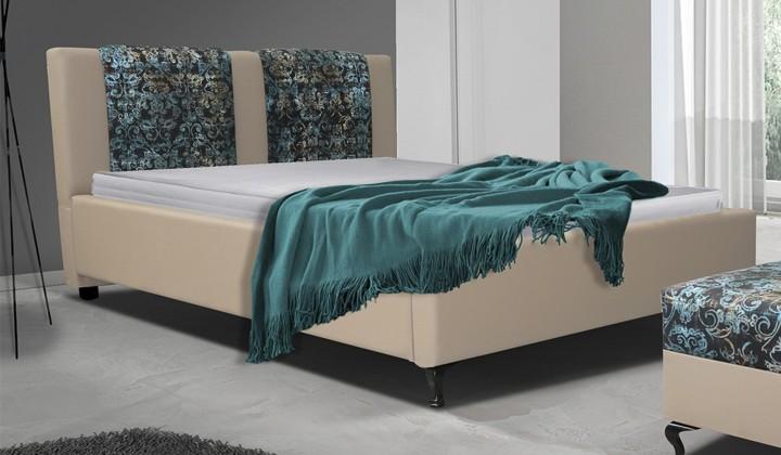 Čalouněná Postel X - 140x200 cm, rošt, (madryt 112/fabric alova p2)