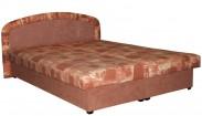 Čalouněná postel Zofie 160x200 cm, oranžová, vč. matrace a úp