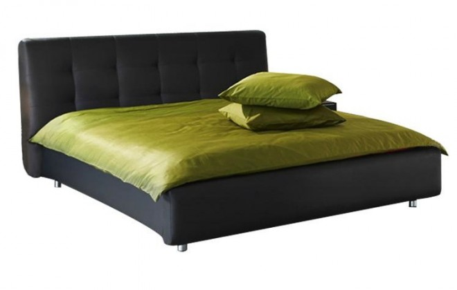 Čalouněná Queen - rám postele 200x160 (eko kůže)