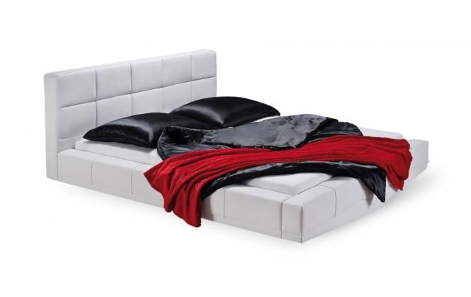 Čalouněná Santi - rám postele, rošt, 2x matrace (200x200)