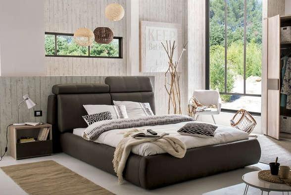Čalouněná Seldon - rám postele 200x180 (eko kůže)