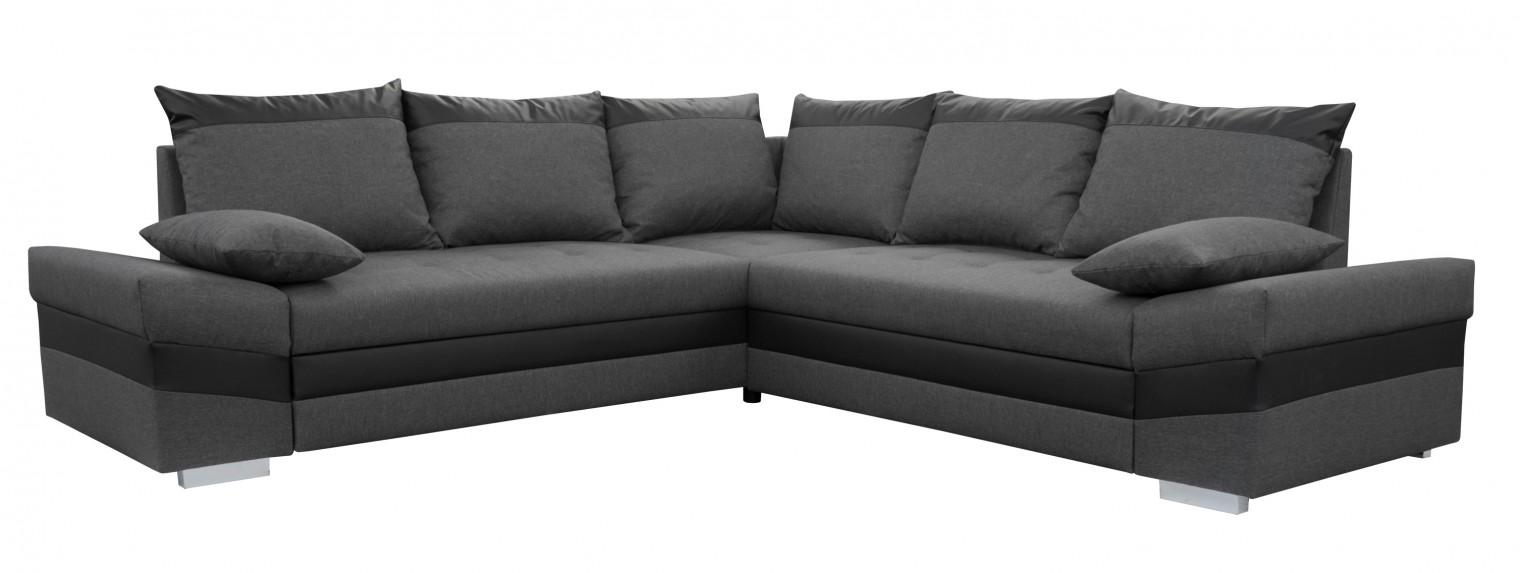 Čalouněné Rohová sedačka rozkládací Bacau Plus univerzální roh ÚP šedá