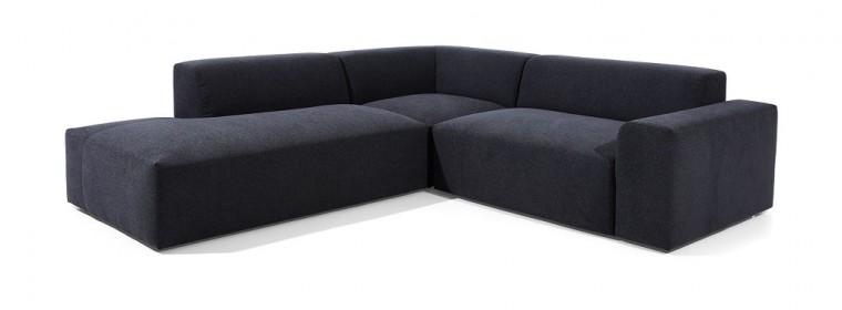 Čalouněné Rohová sedačka Zeus levý roh černá