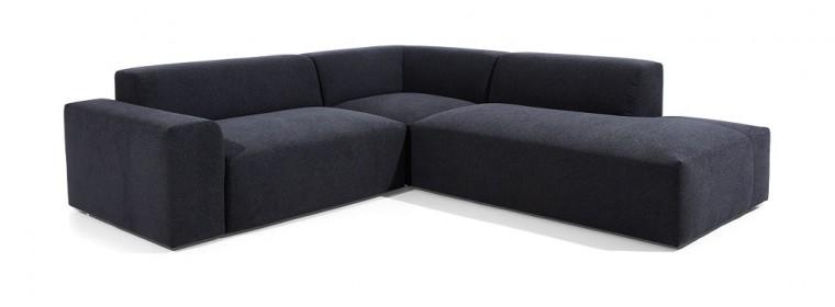 Čalouněné Rohová sedačka Zeus pravý roh černá