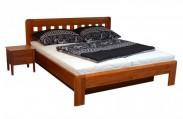 Camira Lux- Rám postele 200x180 (masív buk, moření višeň)