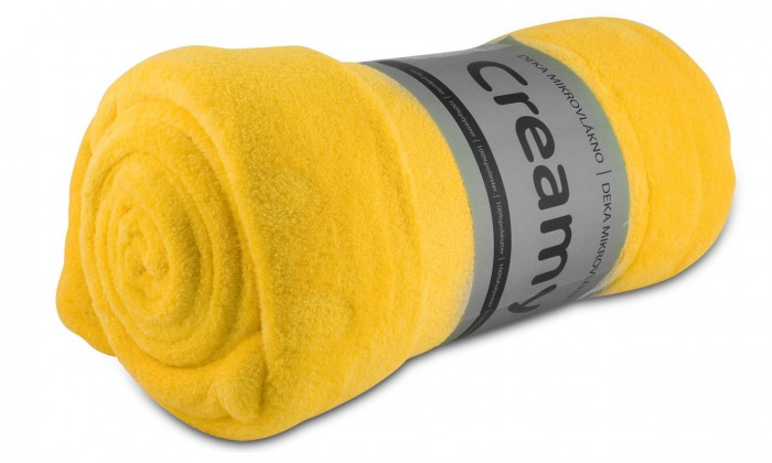Camping Jolly - Deka, mikrovlákno (žlutá)