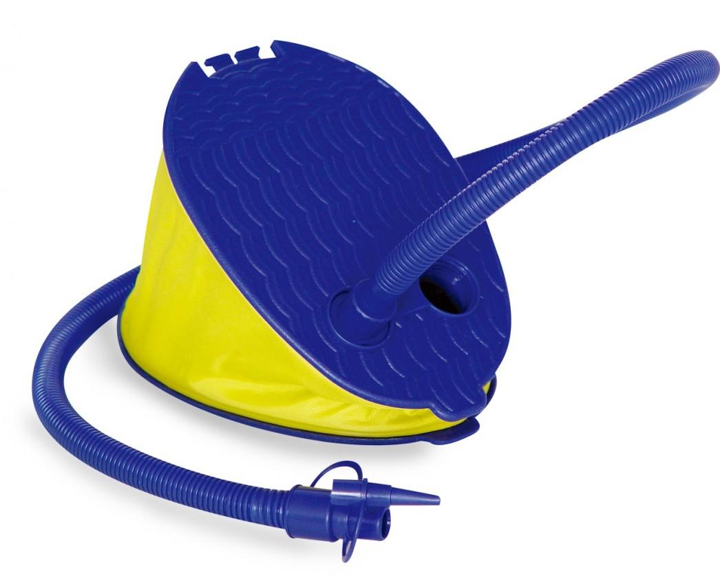 Camping Nožní pumpa (modrá,žlutá)