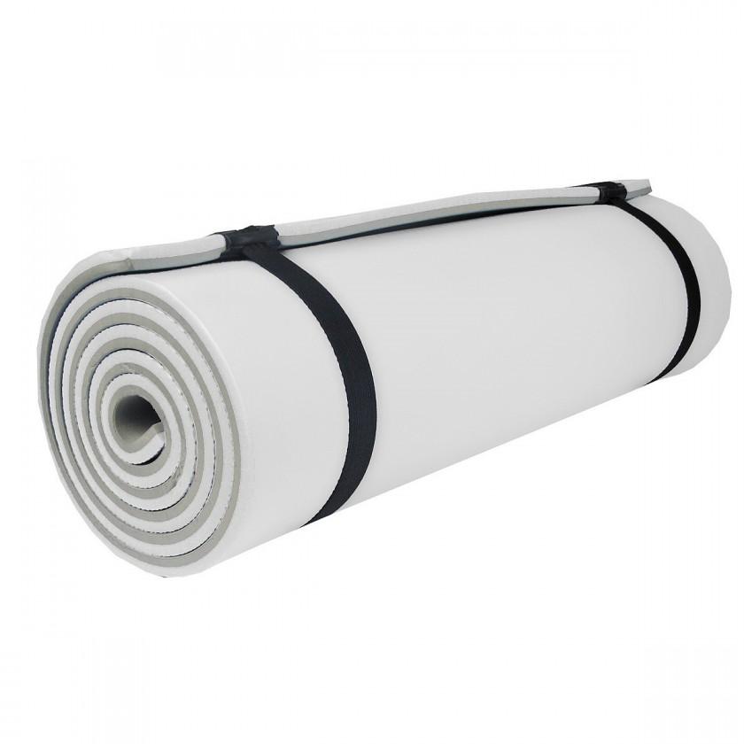 Camprest - Karimatka, 2 vrstvy, 180x50x1,2 cm (šedá, bílá)