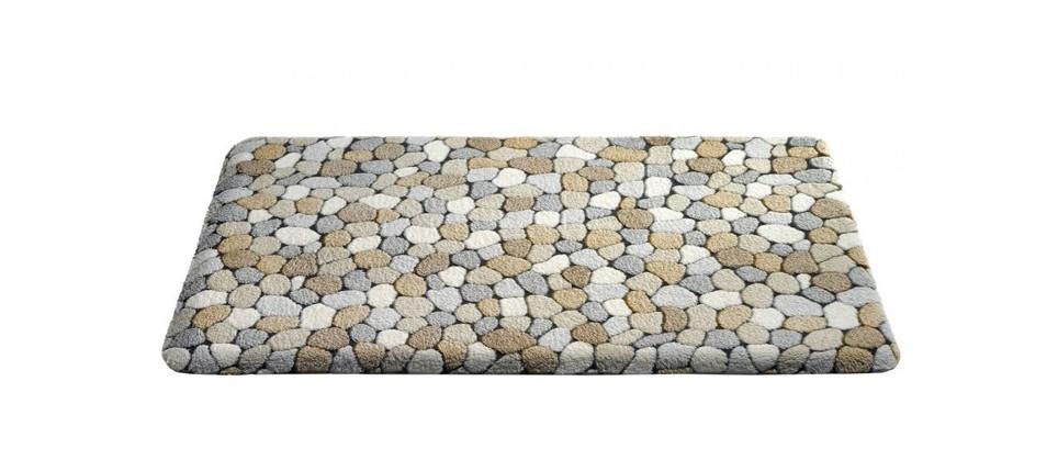 Caresse - koupelnová předložka, 43x60 cm (dekor kamínků, béžový)