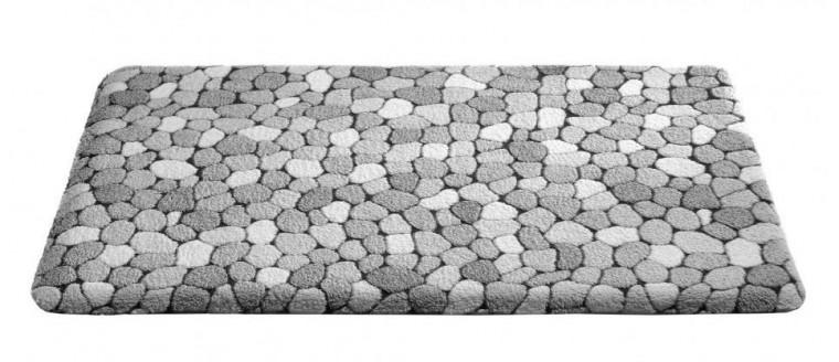 Caresse - koupelnová předložka, 50x85 cm (dekor kamínků, šedý)