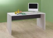 Cariba - Pracovní stůl (bílá dub, černá láva)