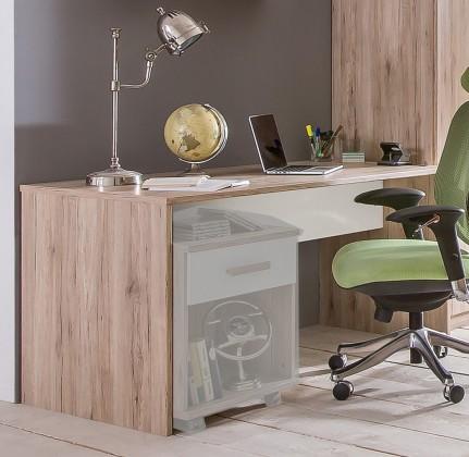 Cariba - Pracovní stůl (san remo dub, bílá)