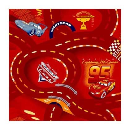 Cars červený - Koberec 200X200 cm