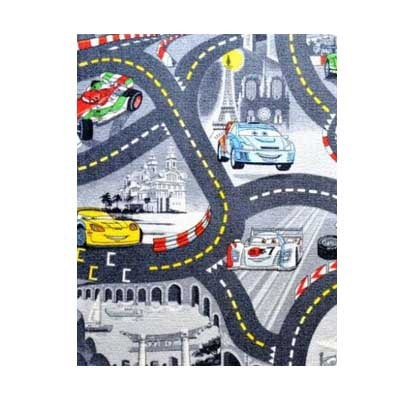 Cars šedý - Koberec  140X200 cm