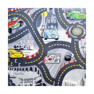 Cars šedý - Koberec  200X200 cm
