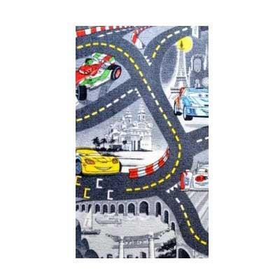 Cars šedý - Koberec 95 x200 cm