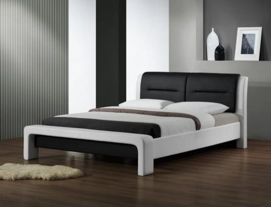 Cassandra - Postel 200x160, rám postele, rošt (bílo-černá)