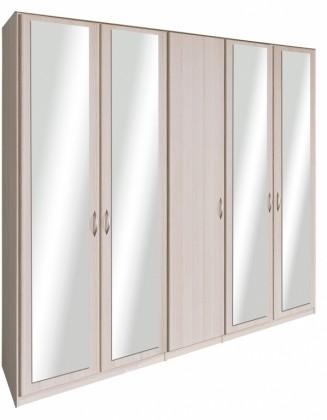 Cassanova - Šatní skříň (4x dveře se zrcadlem, jasan coimbra)