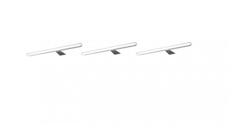 Catania - LED-liniové osvětlení, 3 kusy (stříbrná)
