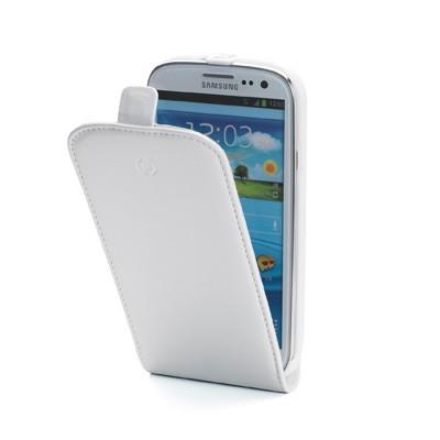 Celly kožené pouzdro Samsung Galaxy S III GT-I9300, bílé