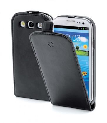 Celly kožené pouzdro Samsung Galaxy S III GT-I9300, černé