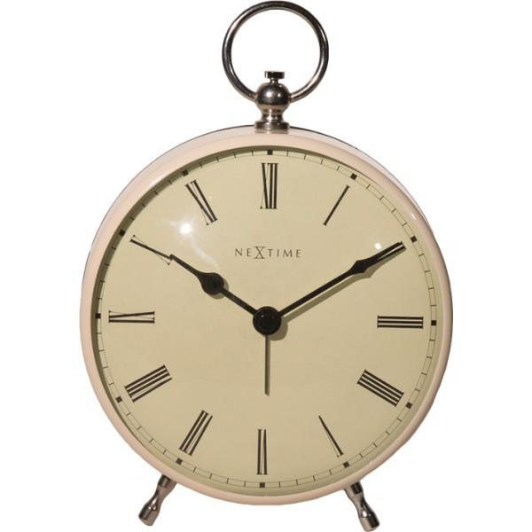 Charles - hodiny, stojaté, kulaté (kov, bílé)