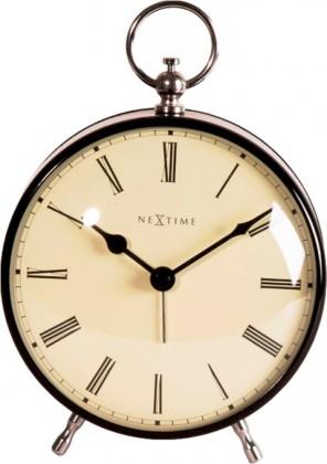 Charles - hodiny, stojaté, kulaté (kov, černé)