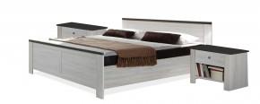 Chateau - komplet, postel 160cm (dub bílý, lava černá)