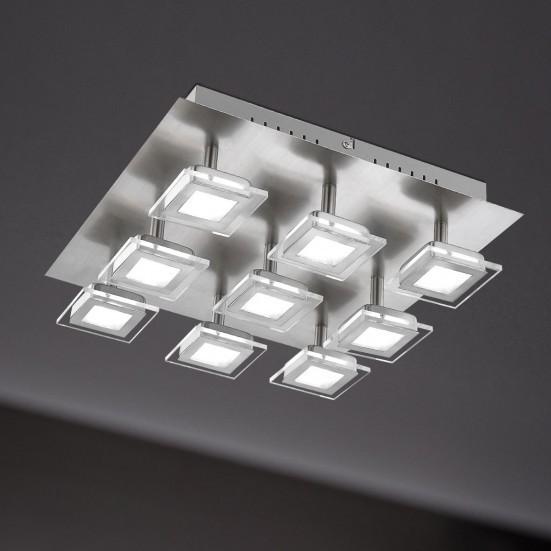 Cholet - Stropní osvětlení, LED (matný nikl)