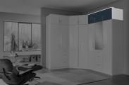 Clack - Nástavec na skříň, 3x dveře (černá, bílá)