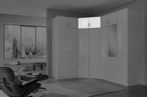 Clack - Nástavec na skříň, rohový (bílá, bílá)