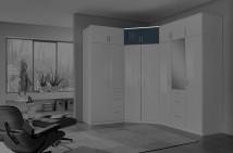 Clack - Nástavec na skříň, rohový (černá, bílá)