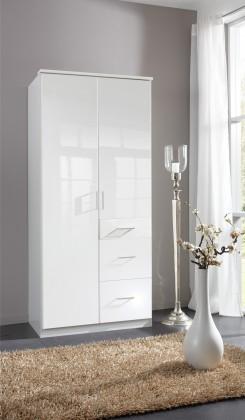 Clack - Skříň, 2x dveře (bílá, bílá)