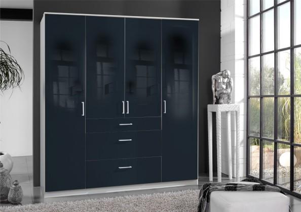 Clack - Skříň, 4x dveře (černá, bílá)