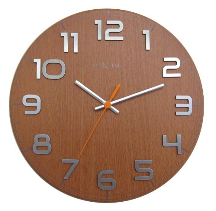 Classy round - hodiny, nástěnné, kulaté (bukové dřevo, černé)